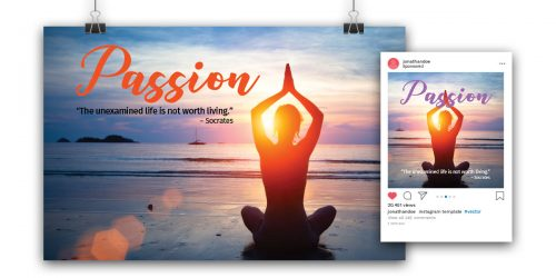 """""""Passion"""" Theme Poster & Post"""