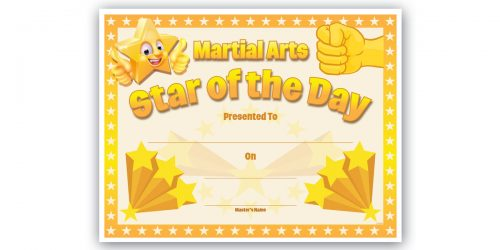 Star of the Day Certificate