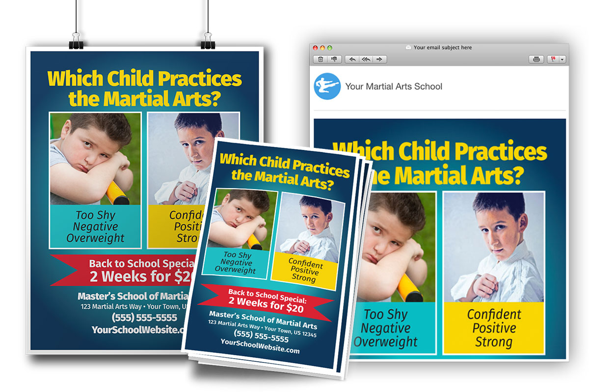child martial arts ad