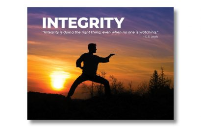 """""""Integrity"""" Poster & Post"""