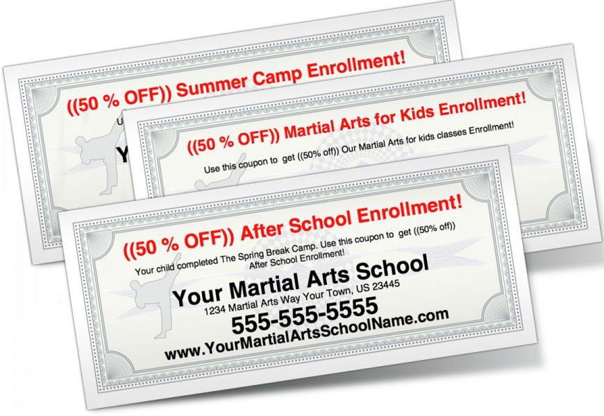 Martial Arts School Coupon