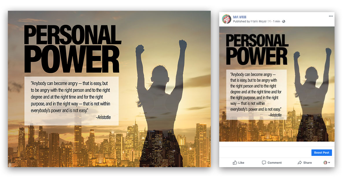 personal power poster