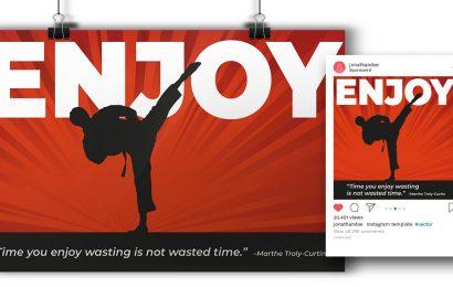 """Enjoy"" Poster & Post"